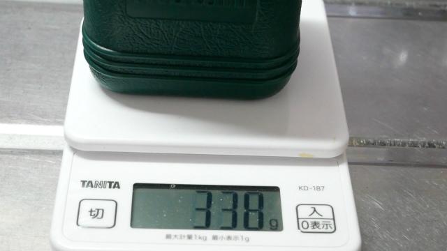 ジュニアコンパクトバーナーの重さ