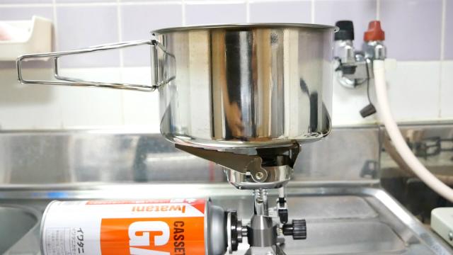 ジュニアコンパクトバーナーと鍋