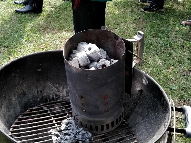 炭の起こし方