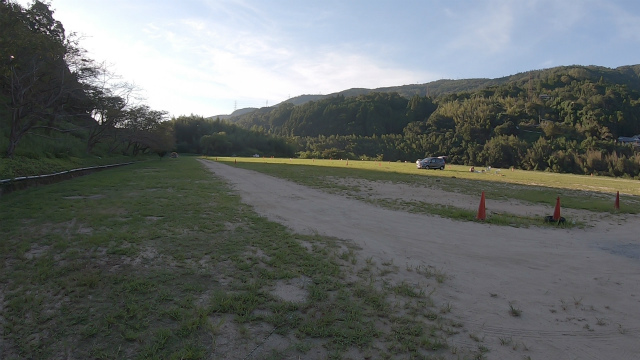 笠置キャンプ場の平地エリア