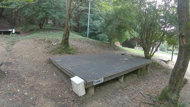 山城町森林公園のウッドデッキ