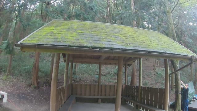 山城町森林公園の休憩所