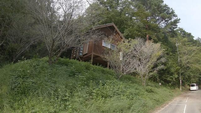 山城町森林公園のログハウス