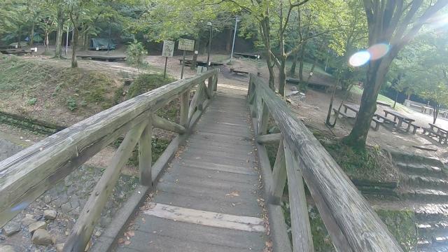 山城町森林公園の橋