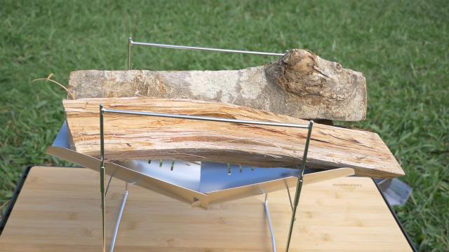 ピコグリル398はフルサイズの薪が入る