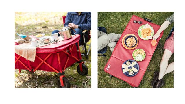 アウトドアワゴンのテーブル