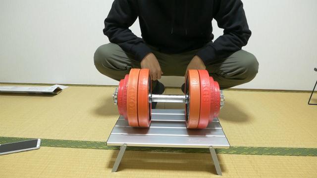 アルミロールテーブルの耐荷重
