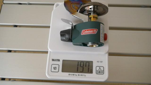 マイクロストーブPZの重量