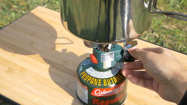 マイクロストーブPZでお湯を沸かす