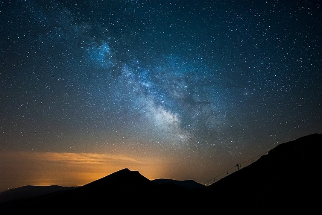 星がキレイ