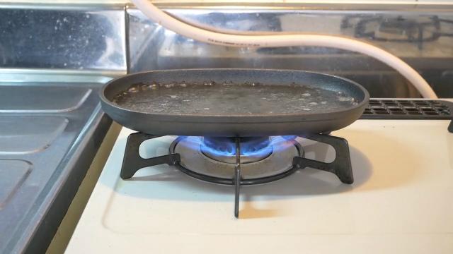 水を張って沸騰させる