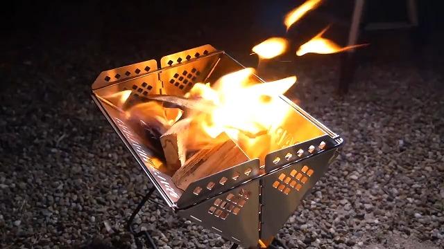 炎が安定する
