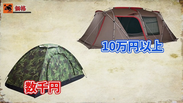 テントの価格