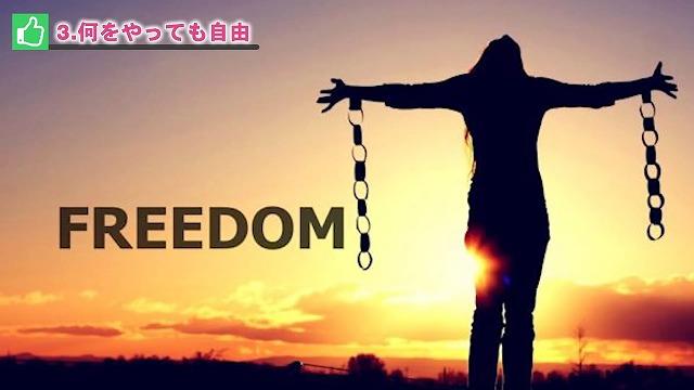 何をやっても自由