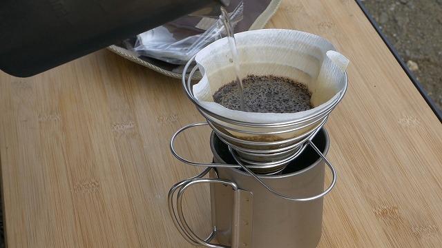 コーヒーを入れてみました