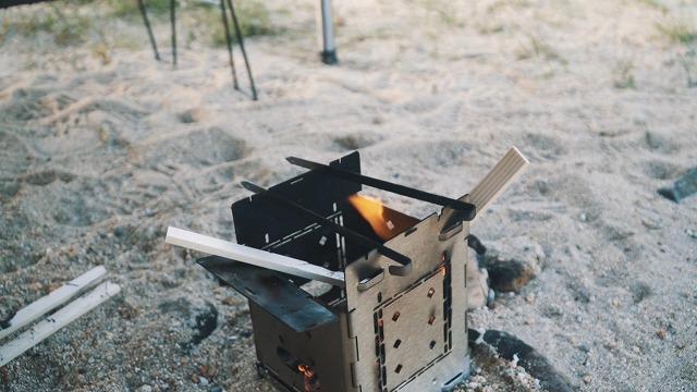 大きな鍋を置いても安定しやすい