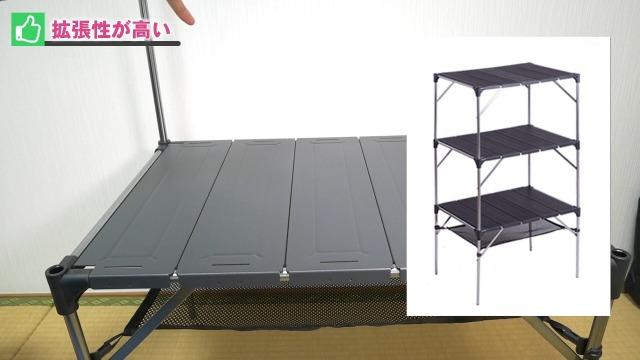 テーブルの上に同じものを重ねる